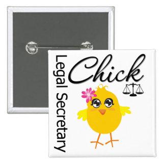 Cute Career Chick - Legal Secretary Pins