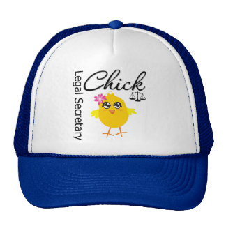 Cute Career Chick - Legal Secretary Trucker Hat
