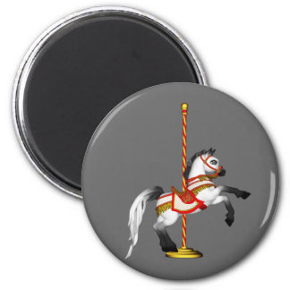 Cute Carousel Horse 1med 6 Cm Round Magnet