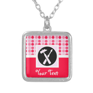 Cute Carpenter Tools Personalized Necklace
