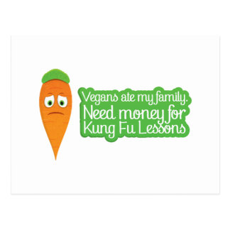 Cute Carrot needs money to avenge his family. Postcard