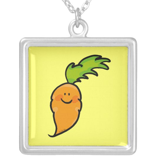 Cute carrot silver plated necklace