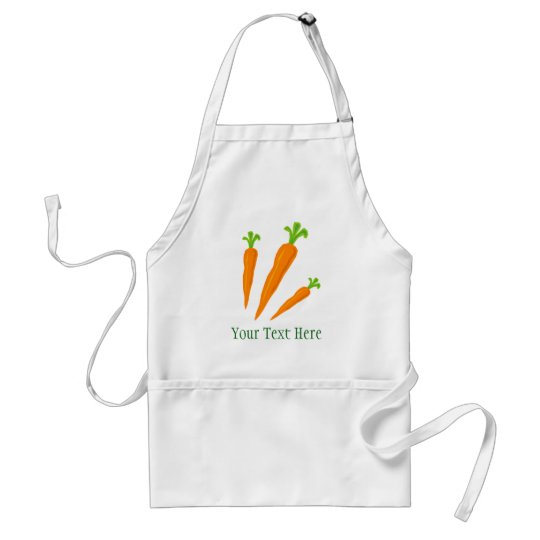 Cute carrot vegetable bbq apron for men and