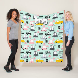 Cute Cars  Fleece Blanket, Medium