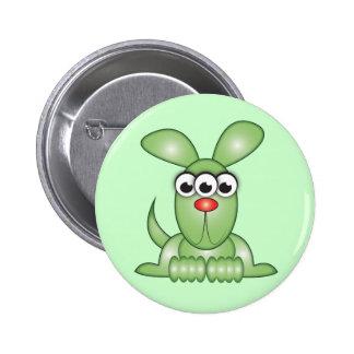 Cute Cartoon Alien Dog Pinback Button