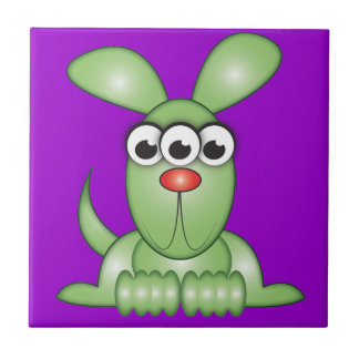 Cute Cartoon Alien Dog Tile