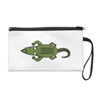 Cute Cartoon Alligator Wristlet Clutches
