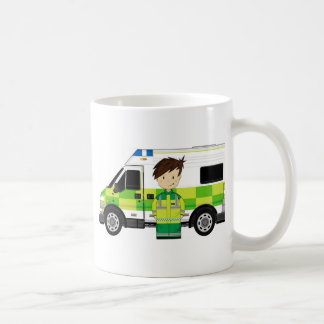 Cute Cartoon Ambulance and EMT Coffee Mug