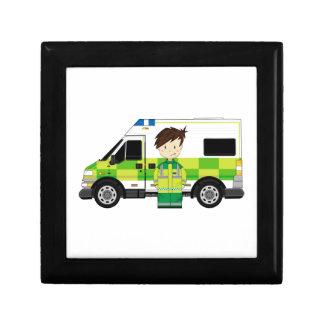 Cute Cartoon Ambulance and EMT Gift Box