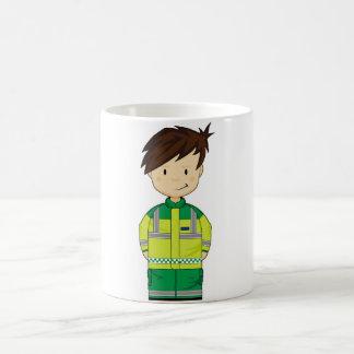Cute Cartoon Ambulance EMT Basic White Mug