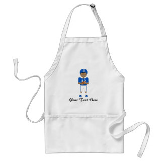 Cute Cartoon American Football Player in Blue Kit Standard Apron