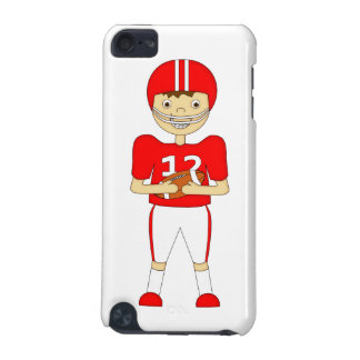 Cute Cartoon American Football Player in Red Kit iPod Touch (5th Generation) Covers