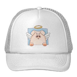 Cute Cartoon Angel Pig Hat