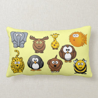 Cute Cartoon Animals Baby Boy Girl Kids Lumbar Cushion