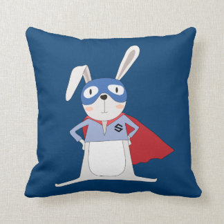 Cute Cartoon Animals Bunny Rabbit Super Hero Cushion