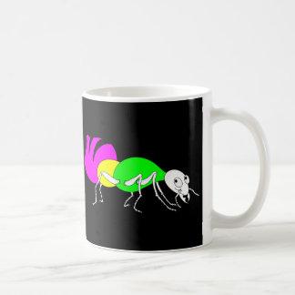 Cute Cartoon Ant With Bright Coloured Abdomen Basic White Mug