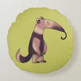 cute cartoon anteater round pillow