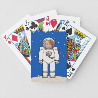 Cute Cartoon Astronaut Photo Costume Template Bicycle Playing Cards