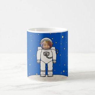 Cute Cartoon Astronaut Photo Costume Template Coffee Mug
