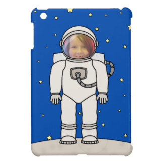 Cute Cartoon Astronaut Photo Costume Template iPad Mini Cover