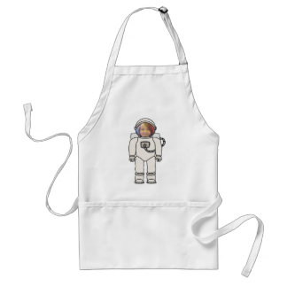 Cute Cartoon Astronaut Photo Costume Template Standard Apron