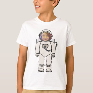 Cute Cartoon Astronaut Photo Cutout Template T-Shirt