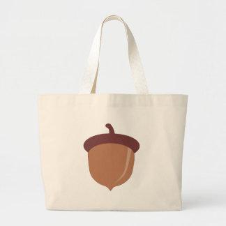 Cute Cartoon Autumn Acorn Jumbo Tote Bag