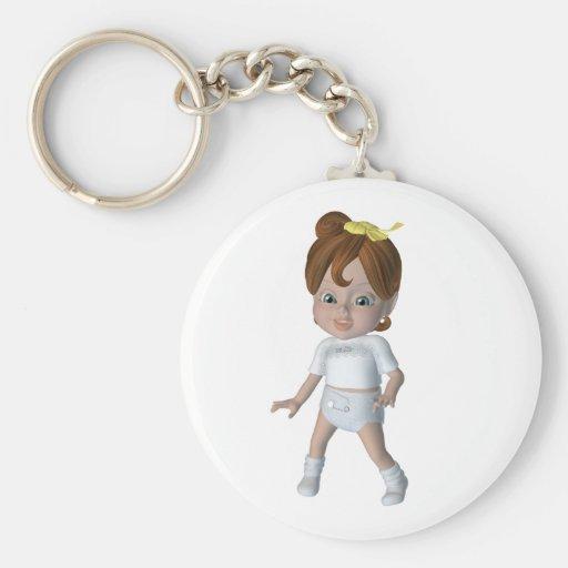Cute cartoon baby design keychains