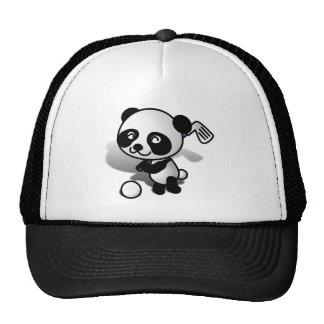 Cute Cartoon Baby Panda Bear Golfing Mesh Hat