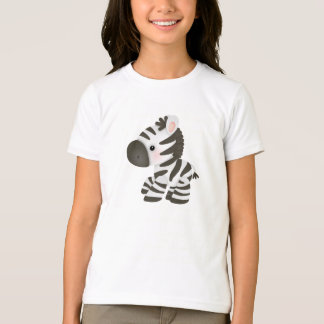 Cute Cartoon Baby Zebra T-Shirt