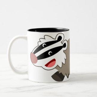 Cute Cartoon Badger Mug