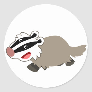 Cute Cartoon Badger Sticker