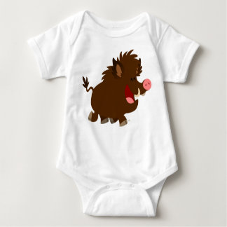 Cute Cartoon Beaming Wild Boar Baby Creeper