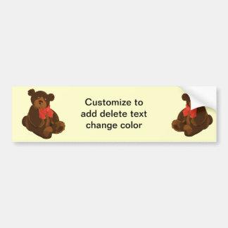 Cute cartoon bear bumper sticker