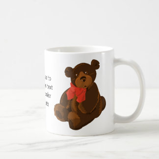 Cute cartoon bear coffee mug
