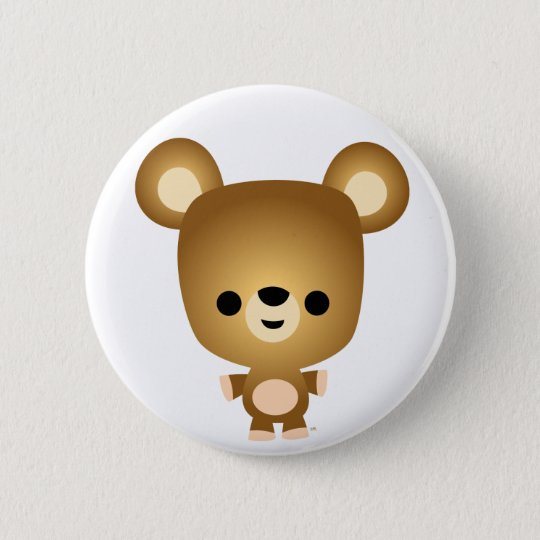 Cute Cartoon Bear Cub Button Badge