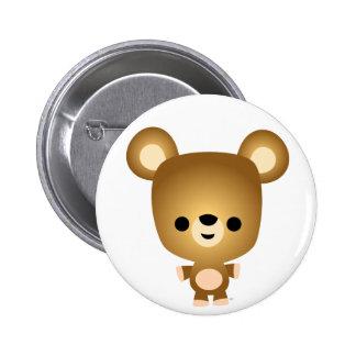 Cute Cartoon Bear Cub Button Badge