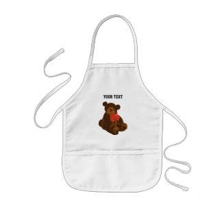 Cute cartoon bear kids apron