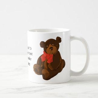 Cute cartoon bear basic white mug