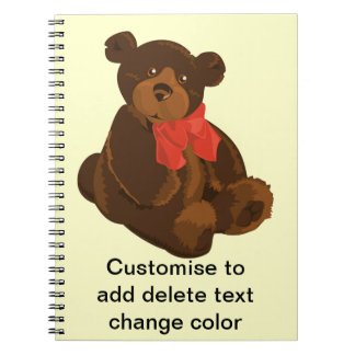 Cute cartoon bear note book