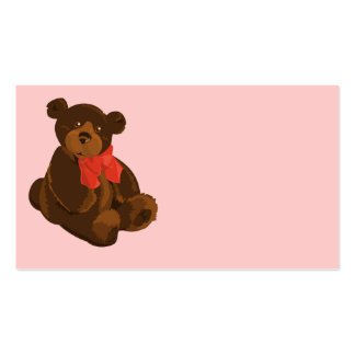 Cute cartoon bear pack of standard business cards