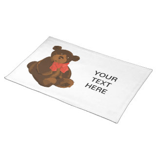 Cute cartoon bear placemat