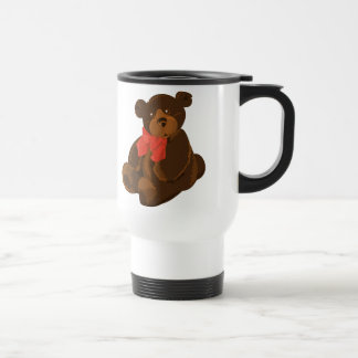 Cute cartoon bear travel mug
