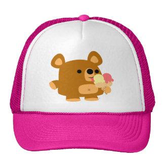 Cute Cartoon Bear with Balls trucker hat