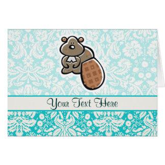 Cute Cartoon Beaver Card