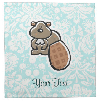 Cute Cartoon Beaver Napkin