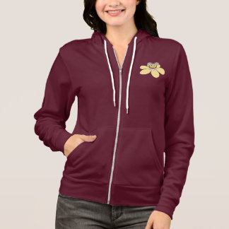 Cute Cartoon Bee And Flower Pink Female Hoodie