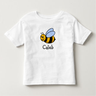 Cute cartoon bee personalized with childs name toddler T-Shirt
