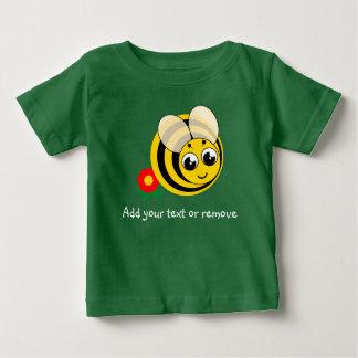Cute cartoon black and yellow striped bumblebee, baby T-Shirt