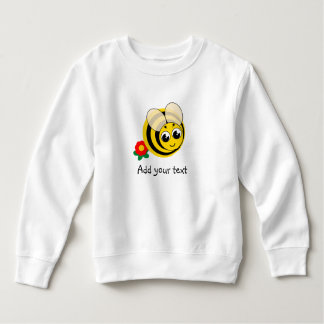 Cute cartoon black and yellow striped bumblebee, sweatshirt